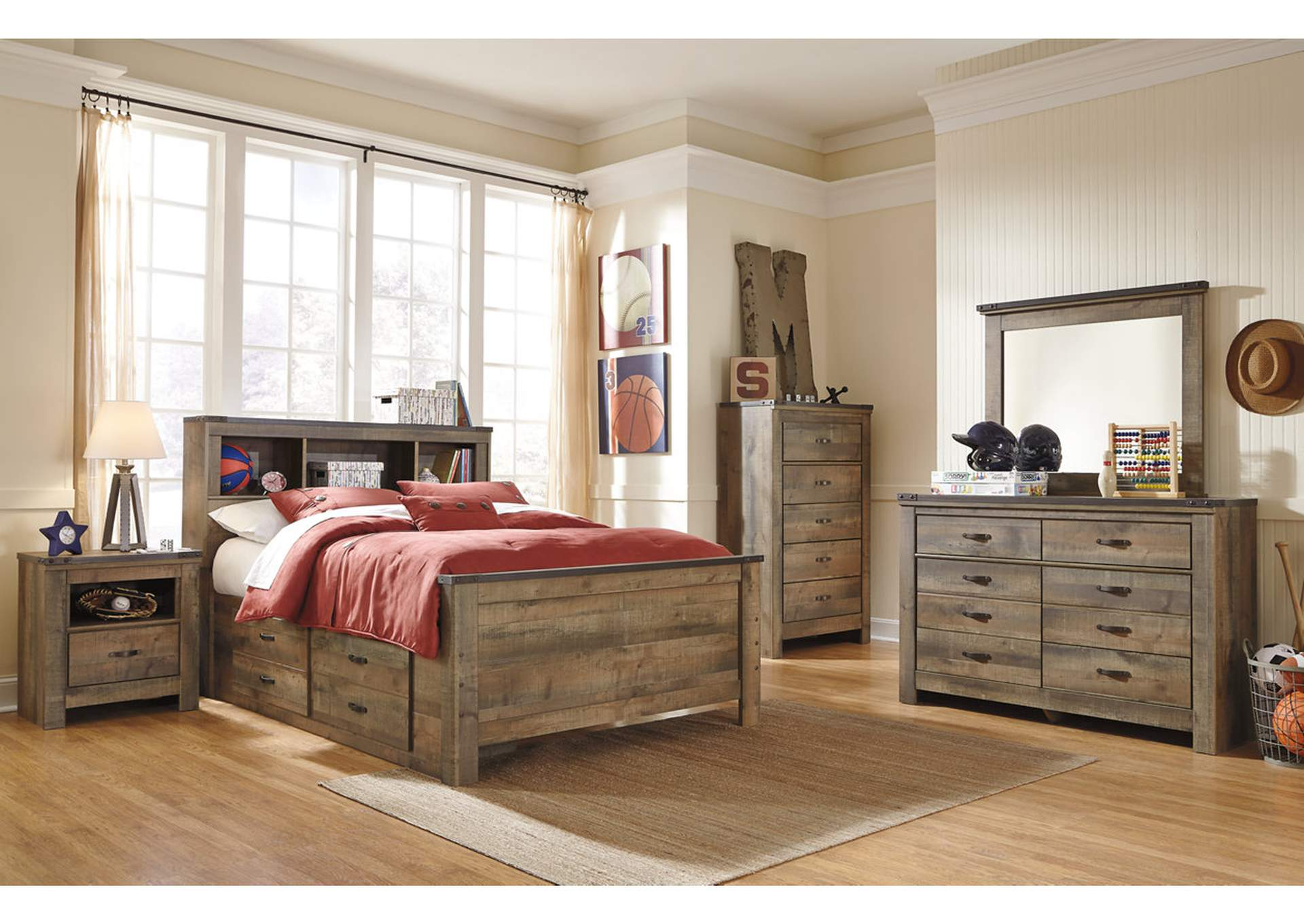 Trinell Brown Bedroom Dresser w/Mirror,Signature Design By Ashley