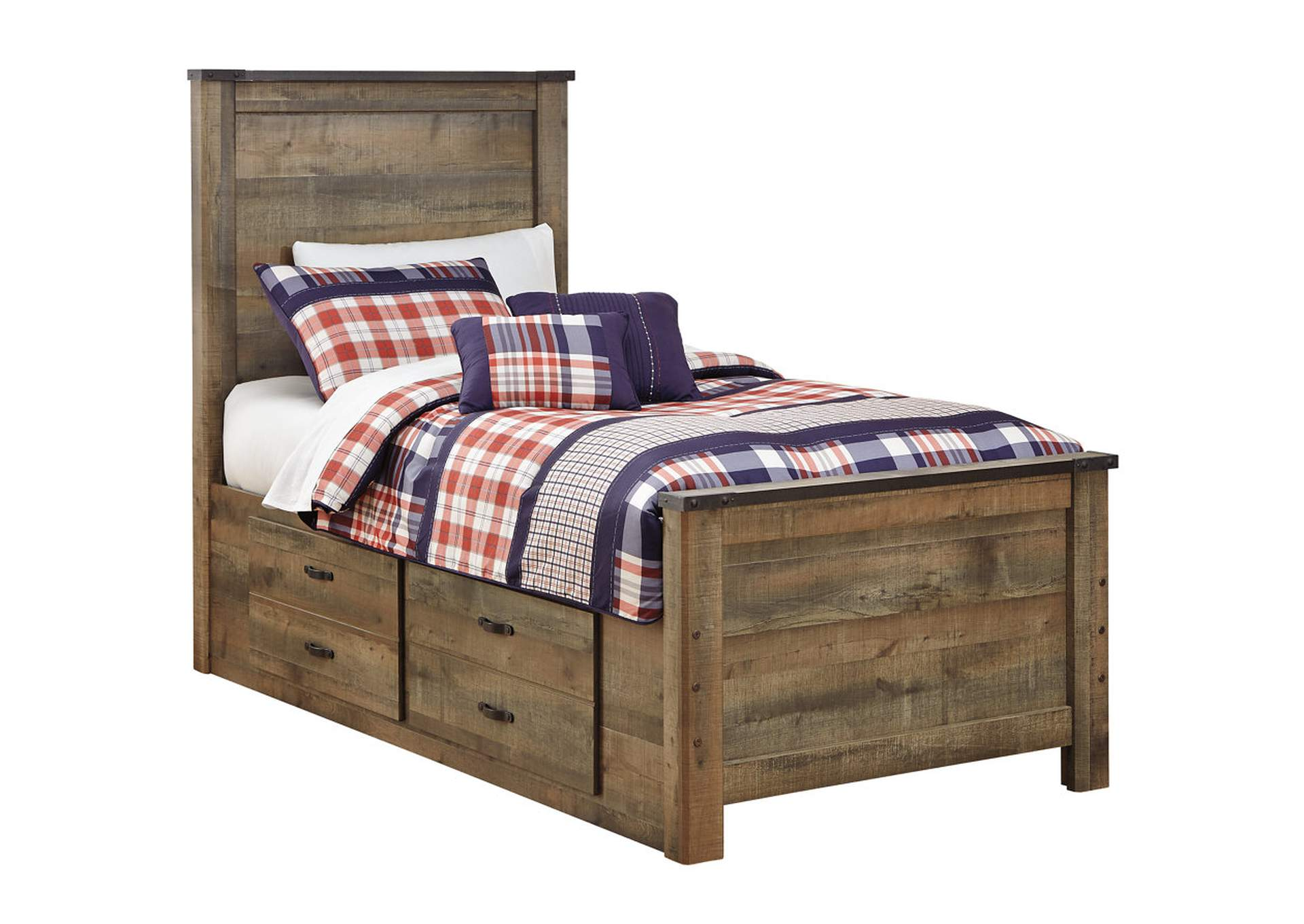 Trinell Brown Twin Storage Bed,Signature Design By Ashley