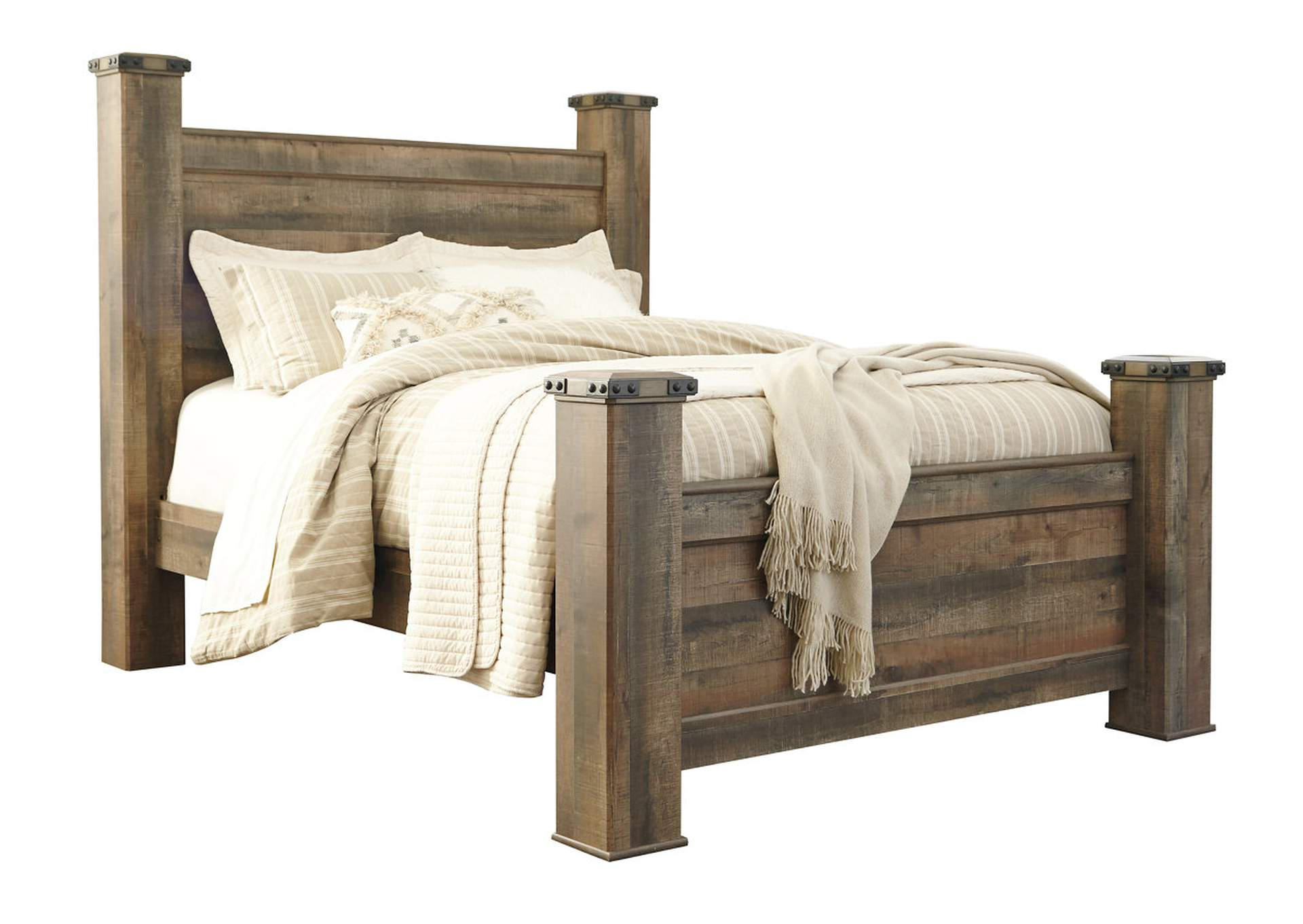 Trinell Brown Queen Poster Bed,Signature Design By Ashley