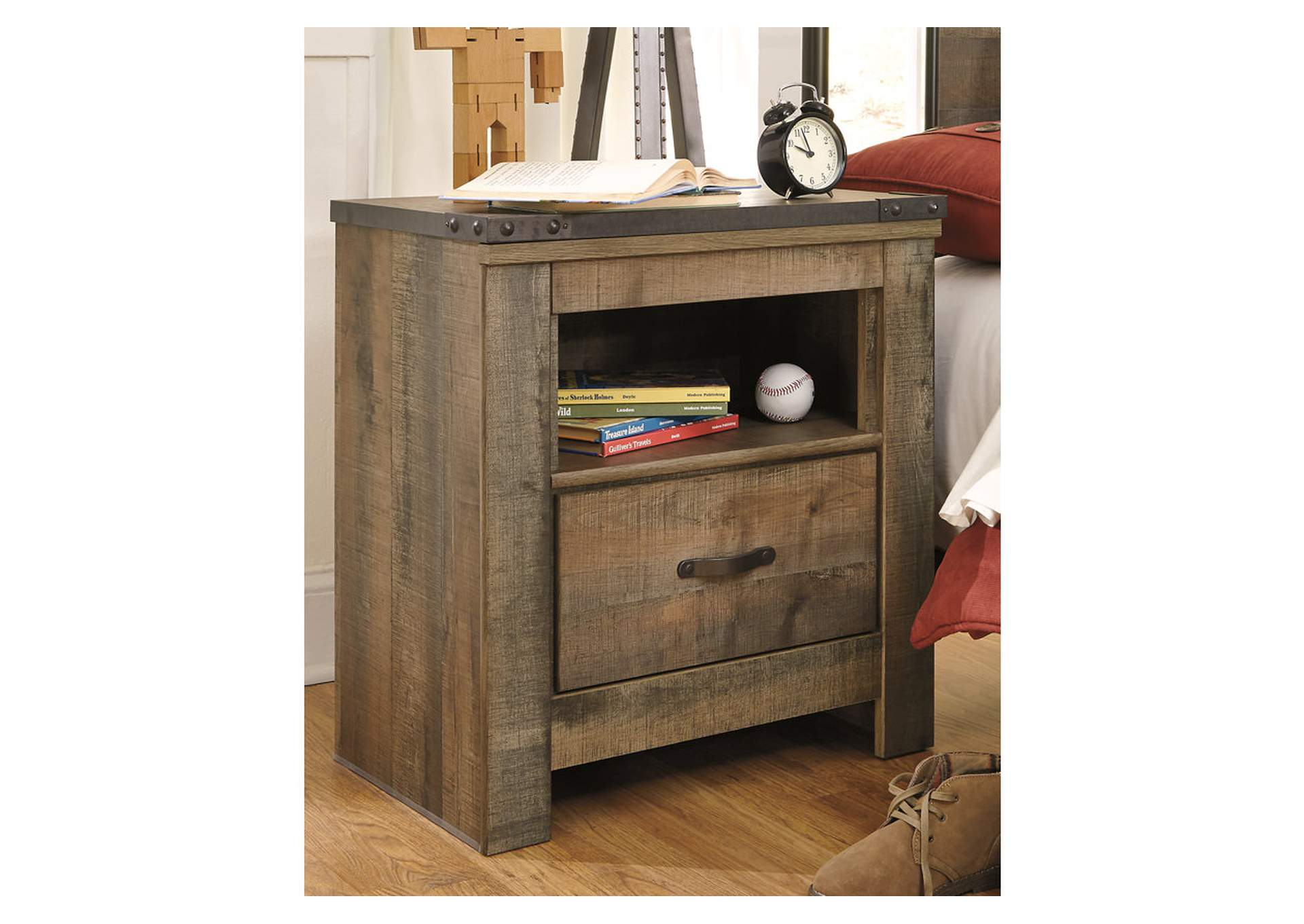 Trinell Brown One Drawer Night Stand,Signature Design By Ashley
