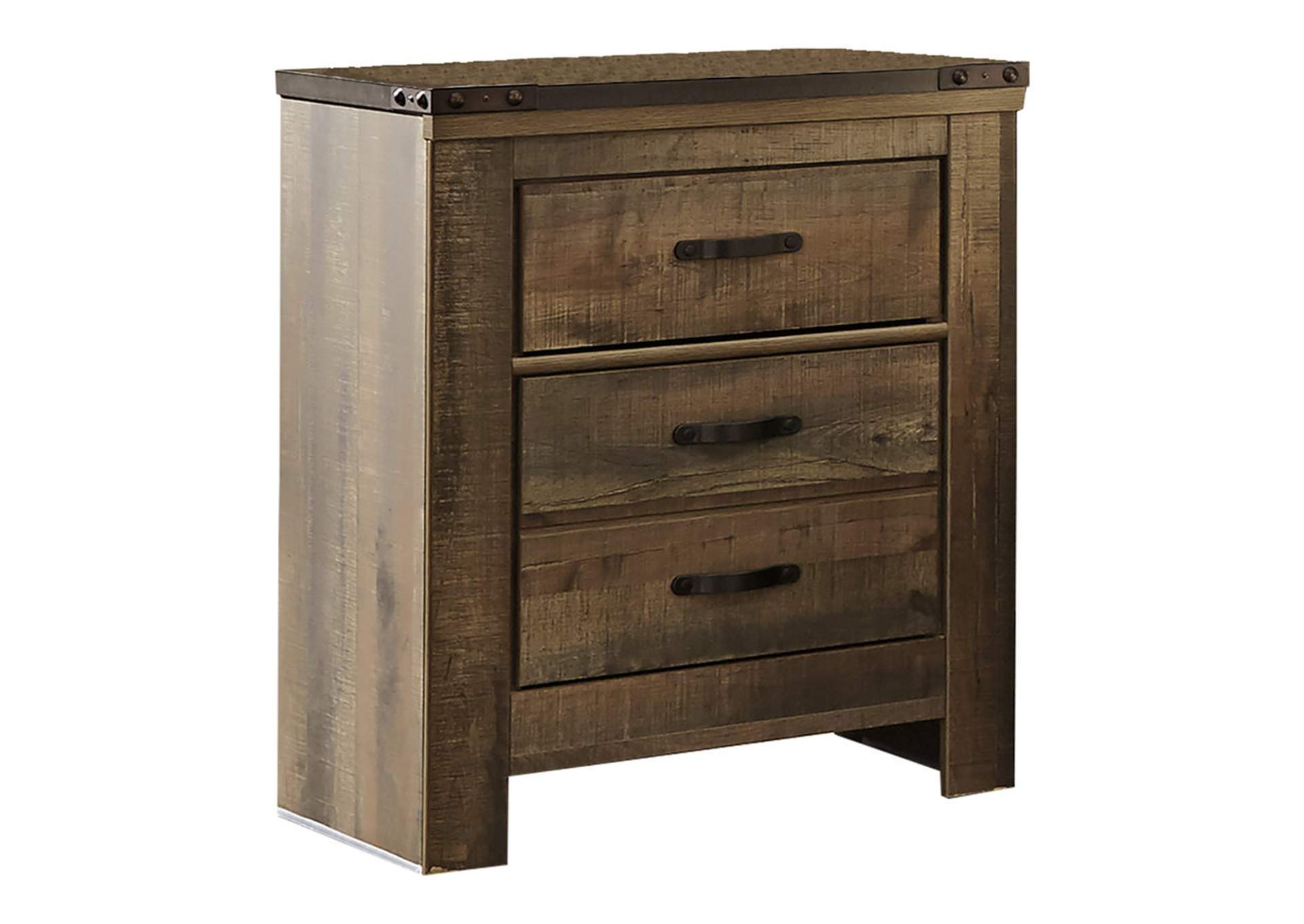 Trinell Brown Two Drawer Night Stand,Signature Design By Ashley