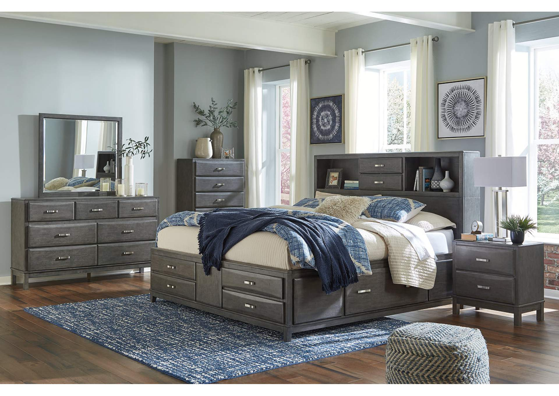 Caitbrook Queen Storage Bed w/Dresser and Mirror,Signature Design By Ashley