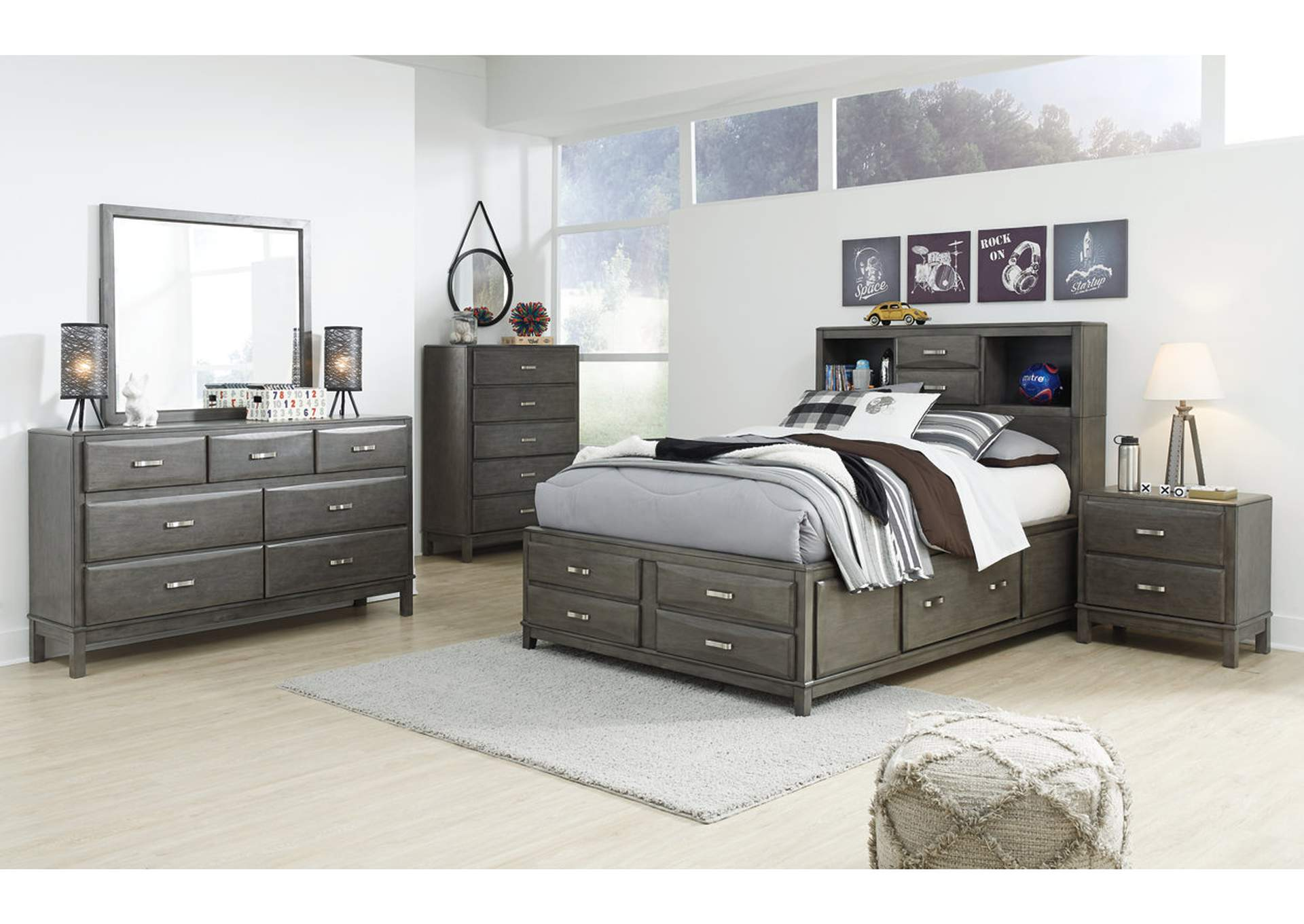 Caitbrook Full Storage Bed w/Dresser and Mirror,Signature Design By Ashley