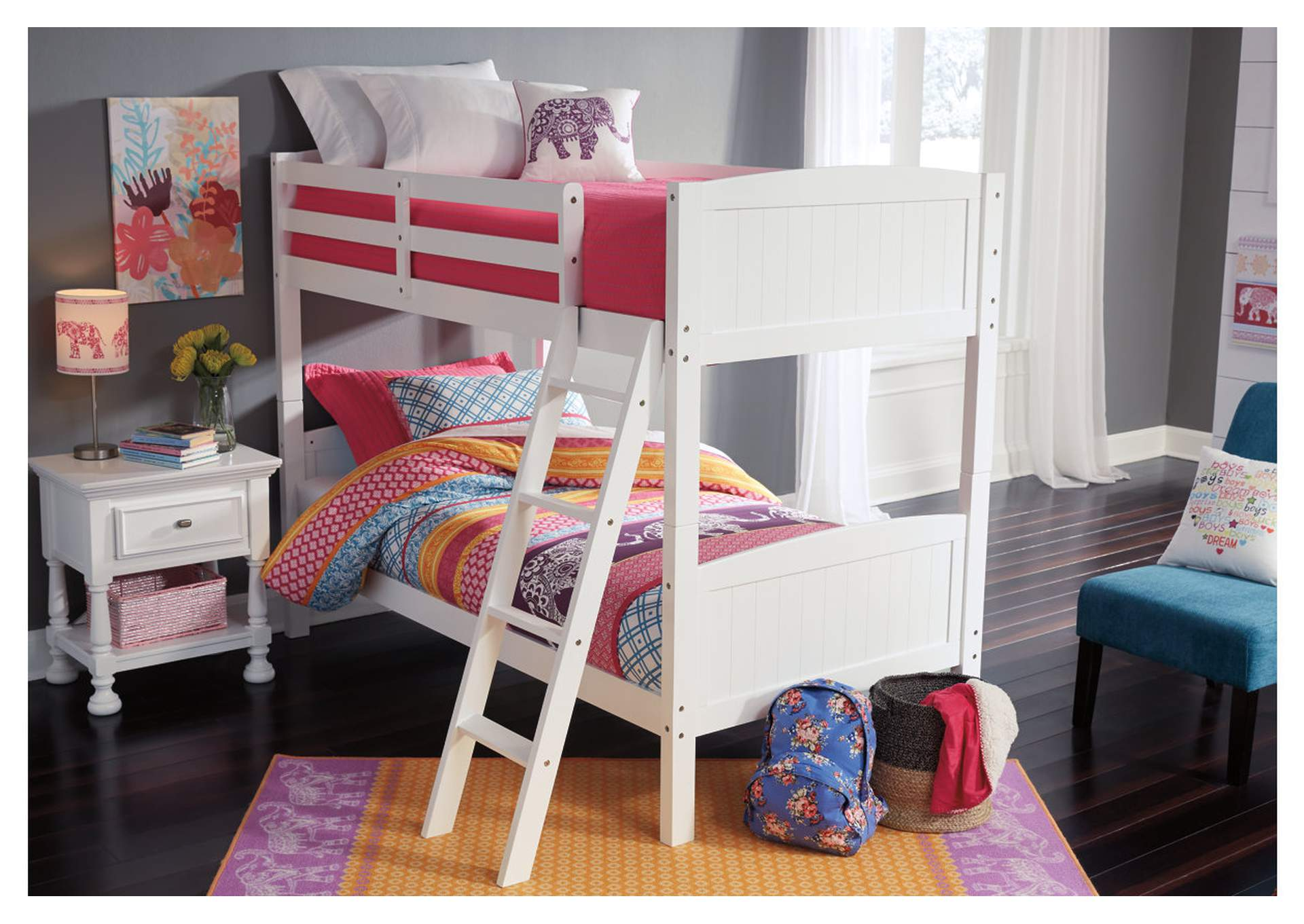Kaslyn White Twin/Twin Bunk Bed,Signature Design By Ashley