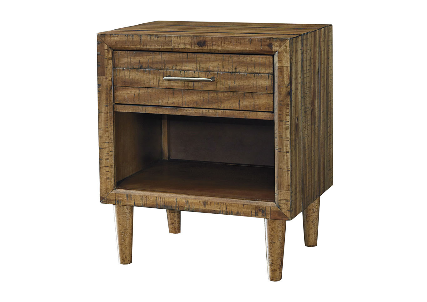Faradyn Warm Brown One Drawer Night Stand,Signature Design By Ashley