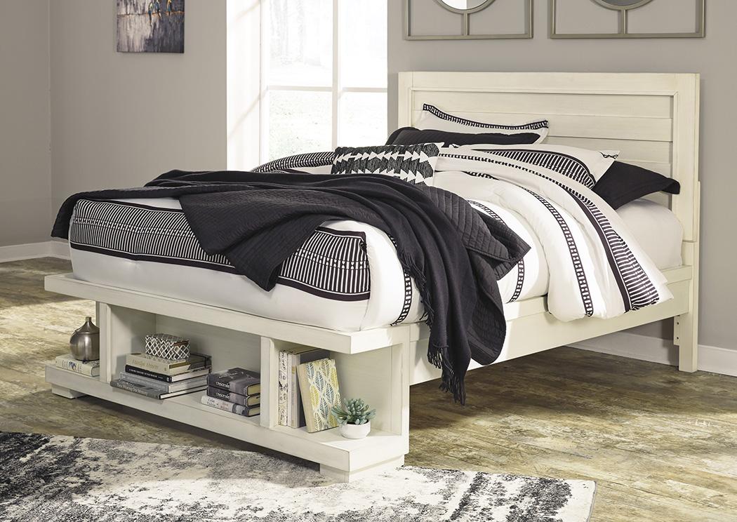 Home Furniture U0026 More   Hyattsville, Brentwood U0026 Capital Heights, MD  Blinton White Queen Storage Bed
