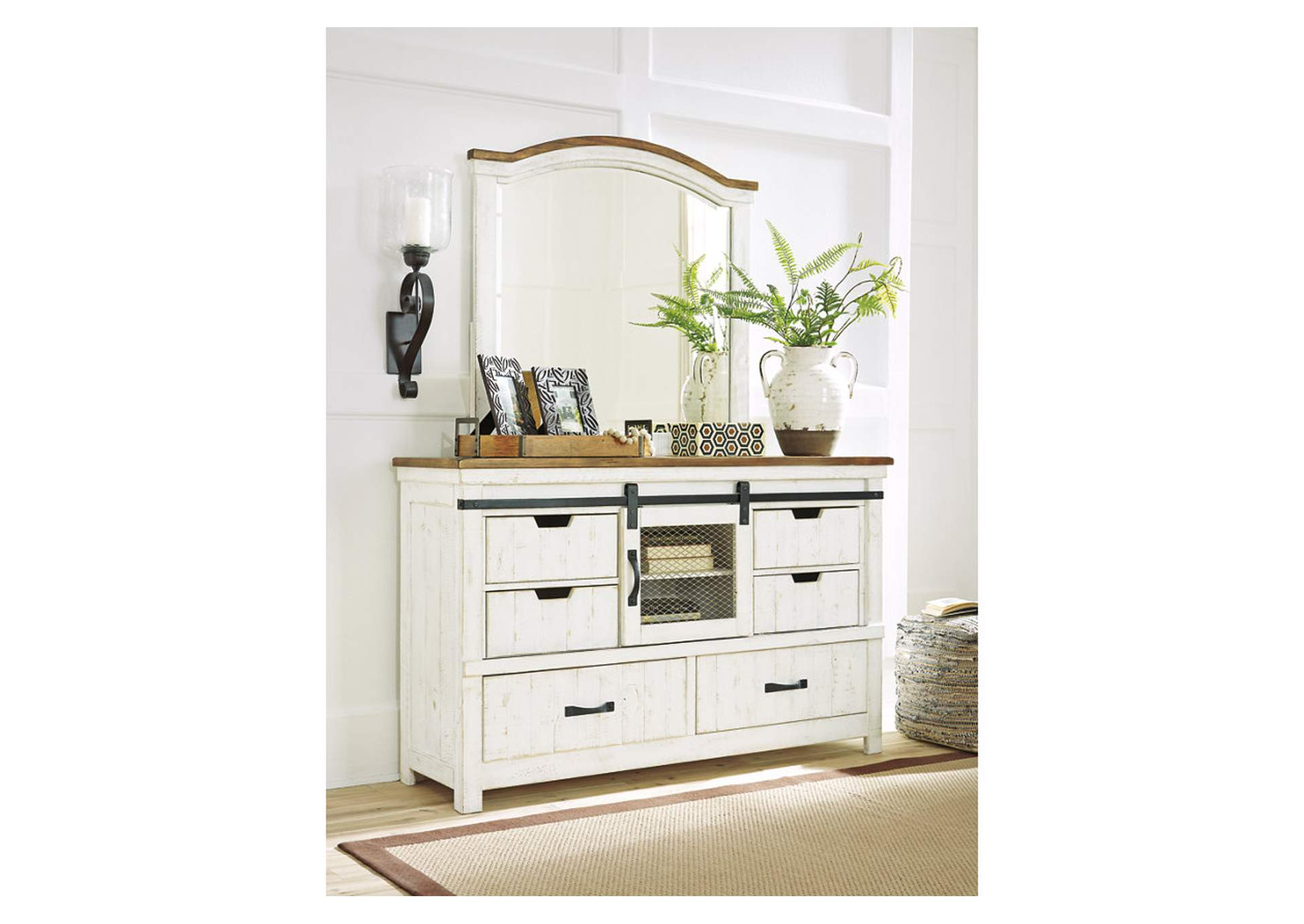 Wystfield White Dresser w/Mirror,Signature Design By Ashley