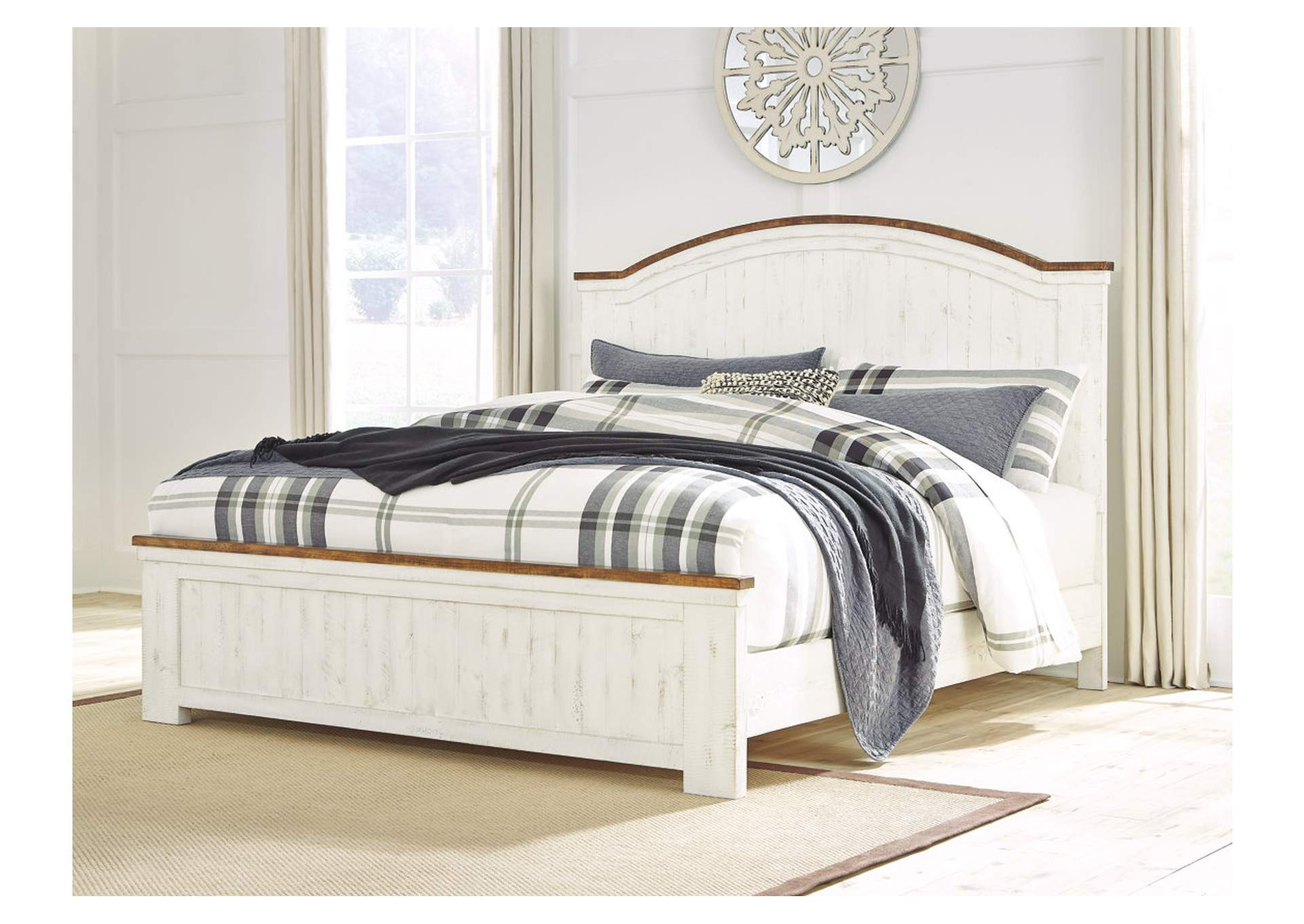 Wystfield White California King Panel Bed,Signature Design By Ashley
