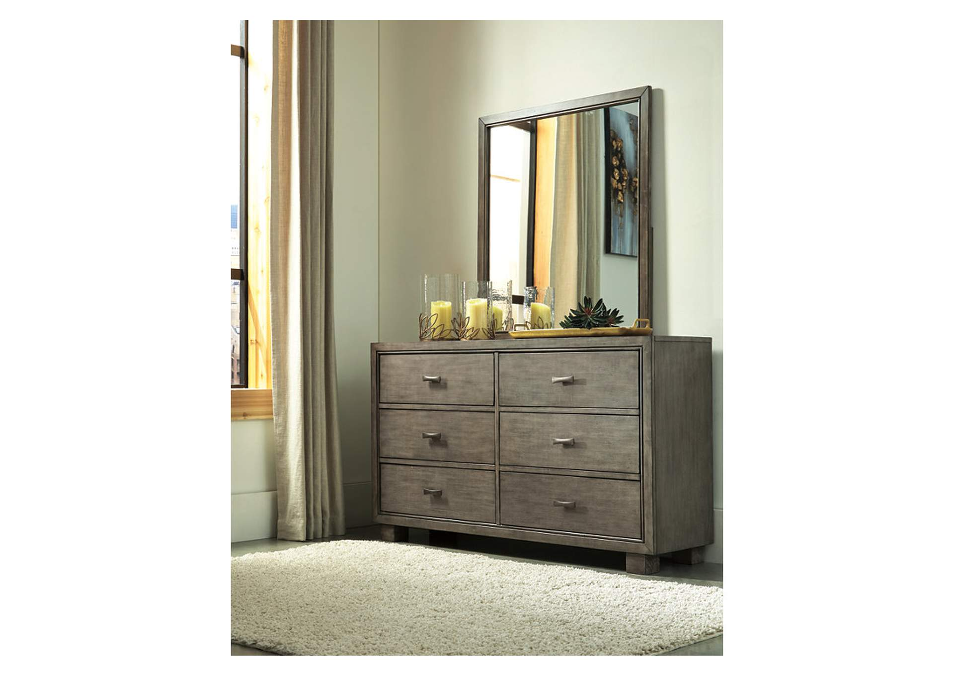 Arnett Gray Dresser w/Mirror,Signature Design By Ashley
