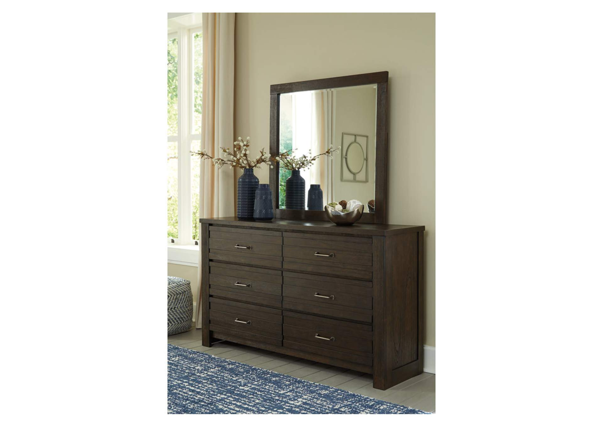Darbry Brown Dresser & Mirror,Signature Design By Ashley