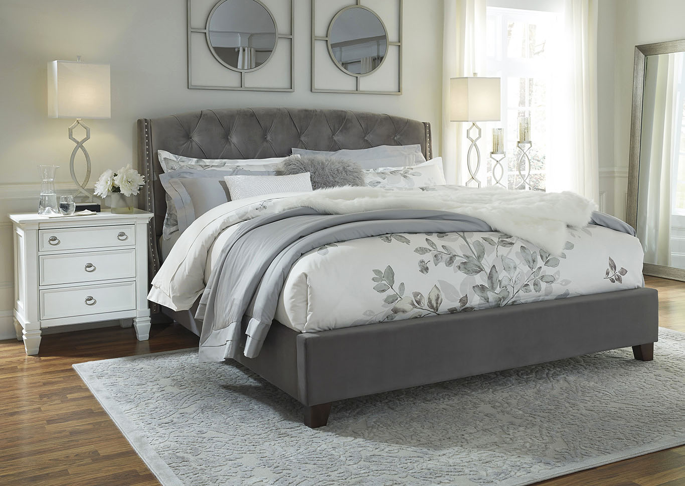 Kasidon Multi California King Upholstered Bed,Signature Design By Ashley