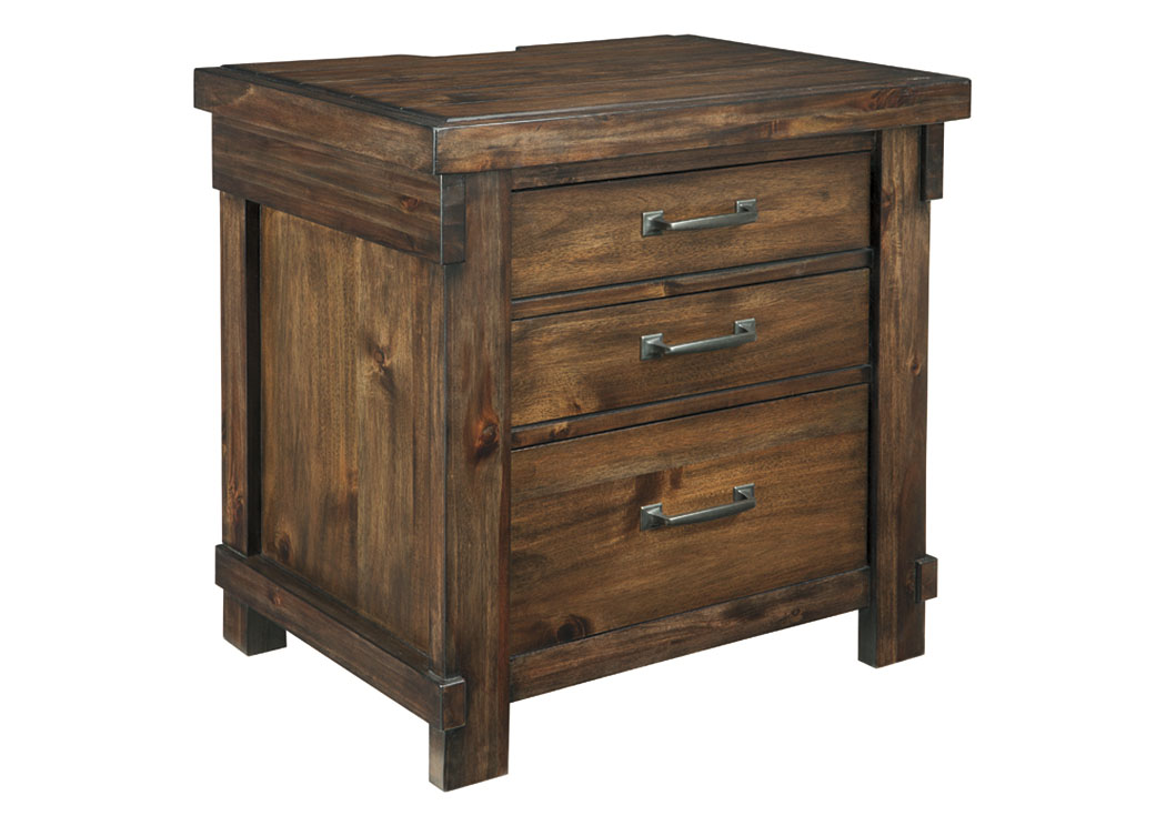Lakeleigh Brown 3 Drawer Nightstand,Signature Design By Ashley