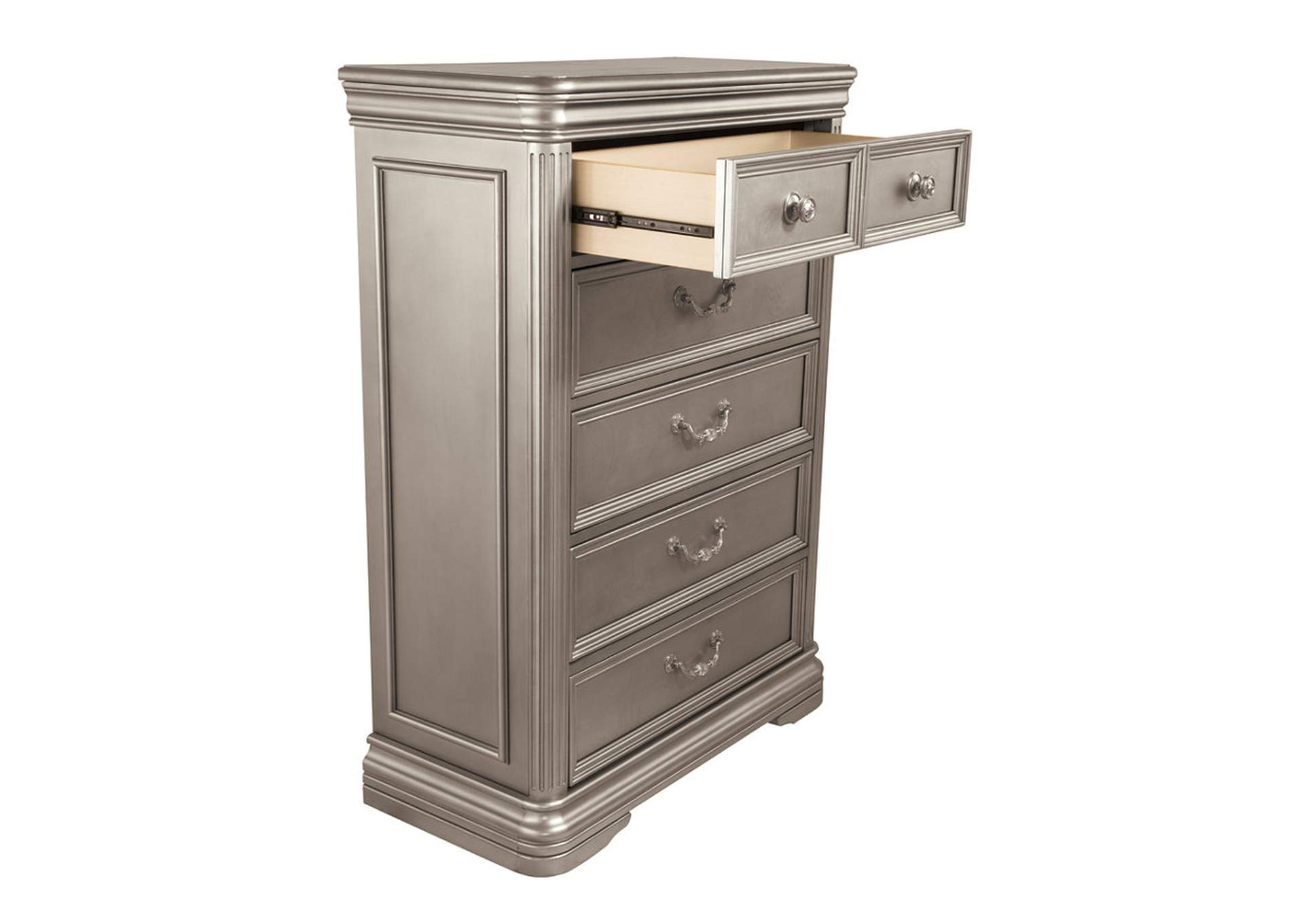 Birlanny Silver Five Drawer Chest,Signature Design By Ashley