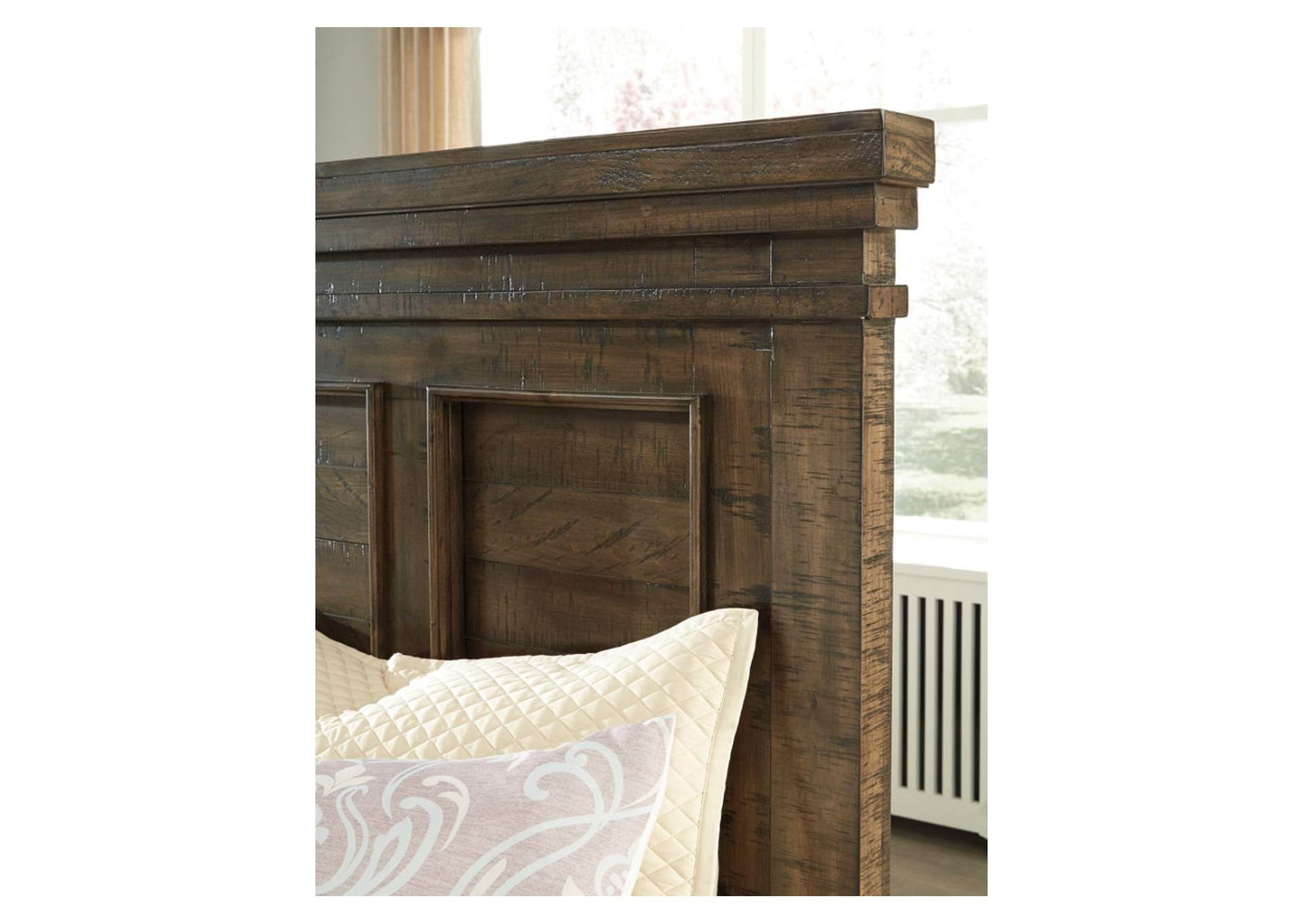 Darloni Grayish Brown Queen Panel Bed w/Dresser and Mirror,Signature Design By Ashley