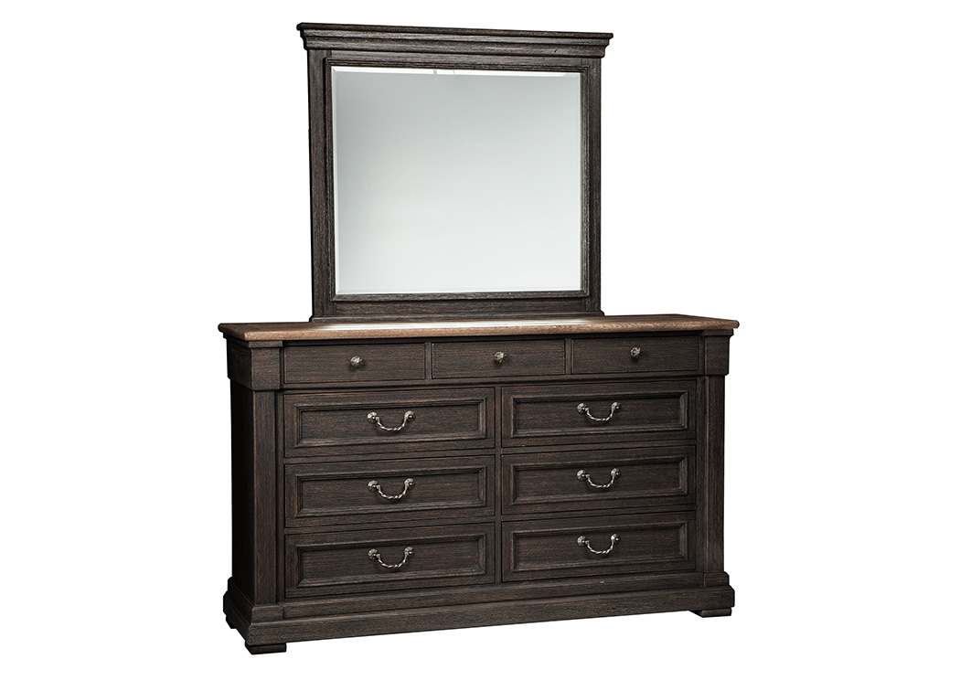 Tyler Creek Black/Gray Bedroom Mirror,Signature Design By Ashley