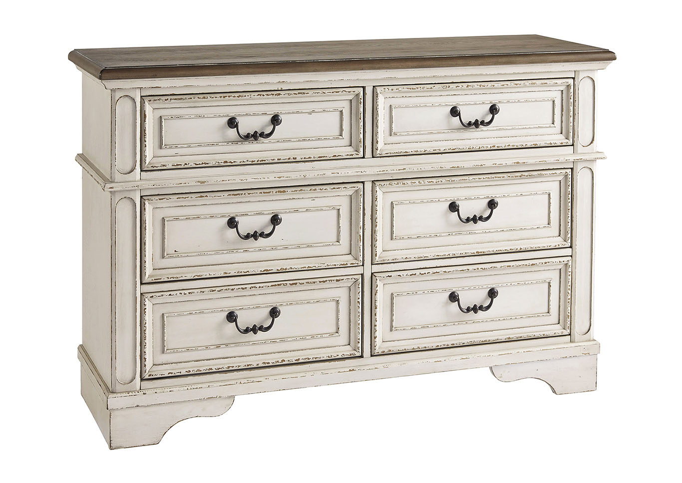 Realyn Chipped White Youth Dresser,Signature Design By Ashley