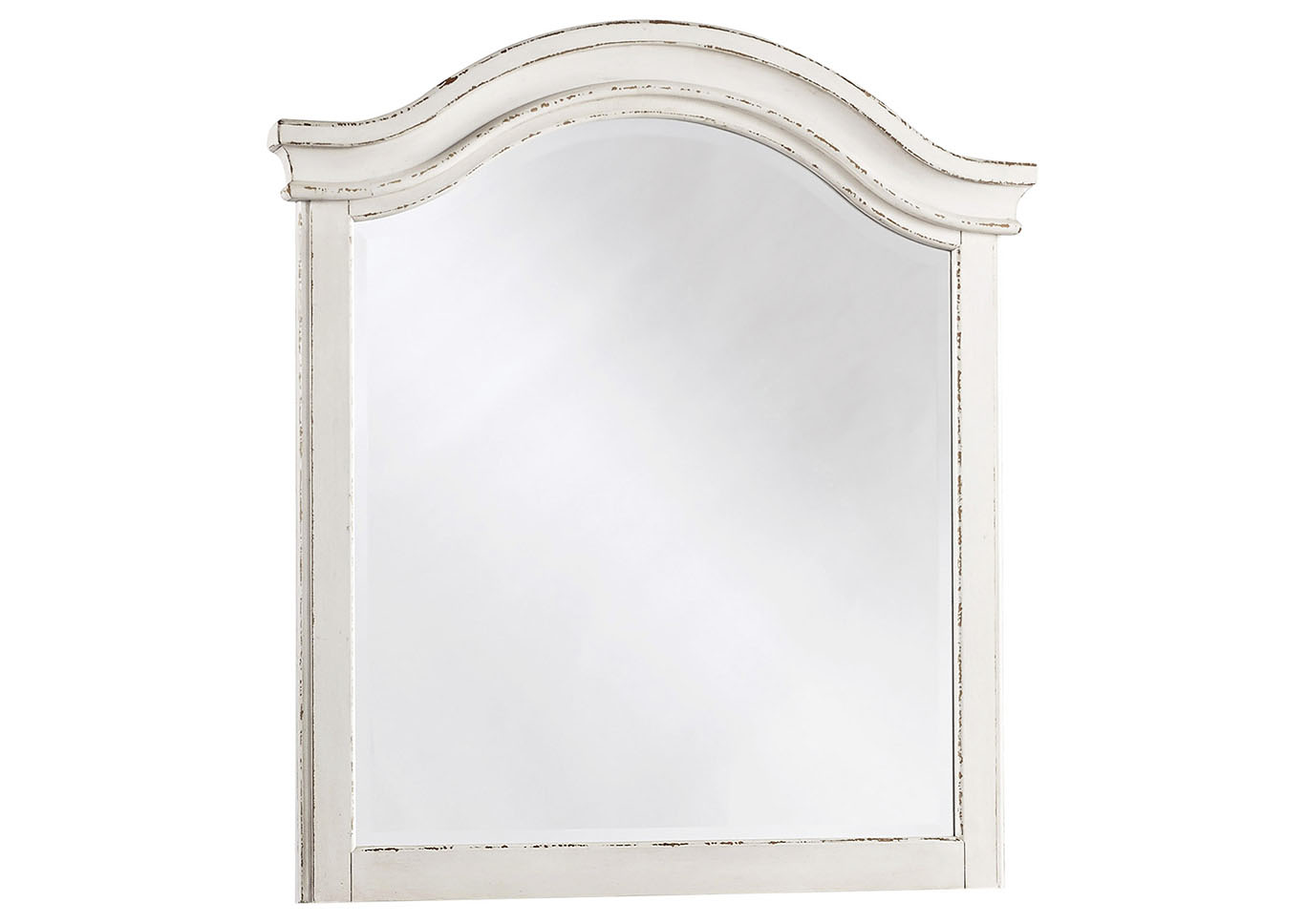 Realyn Chipped White Youth Mirror,Signature Design By Ashley