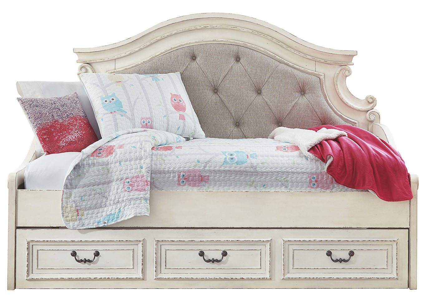 Realyn Chipped White Daybed Storage,Signature Design By Ashley