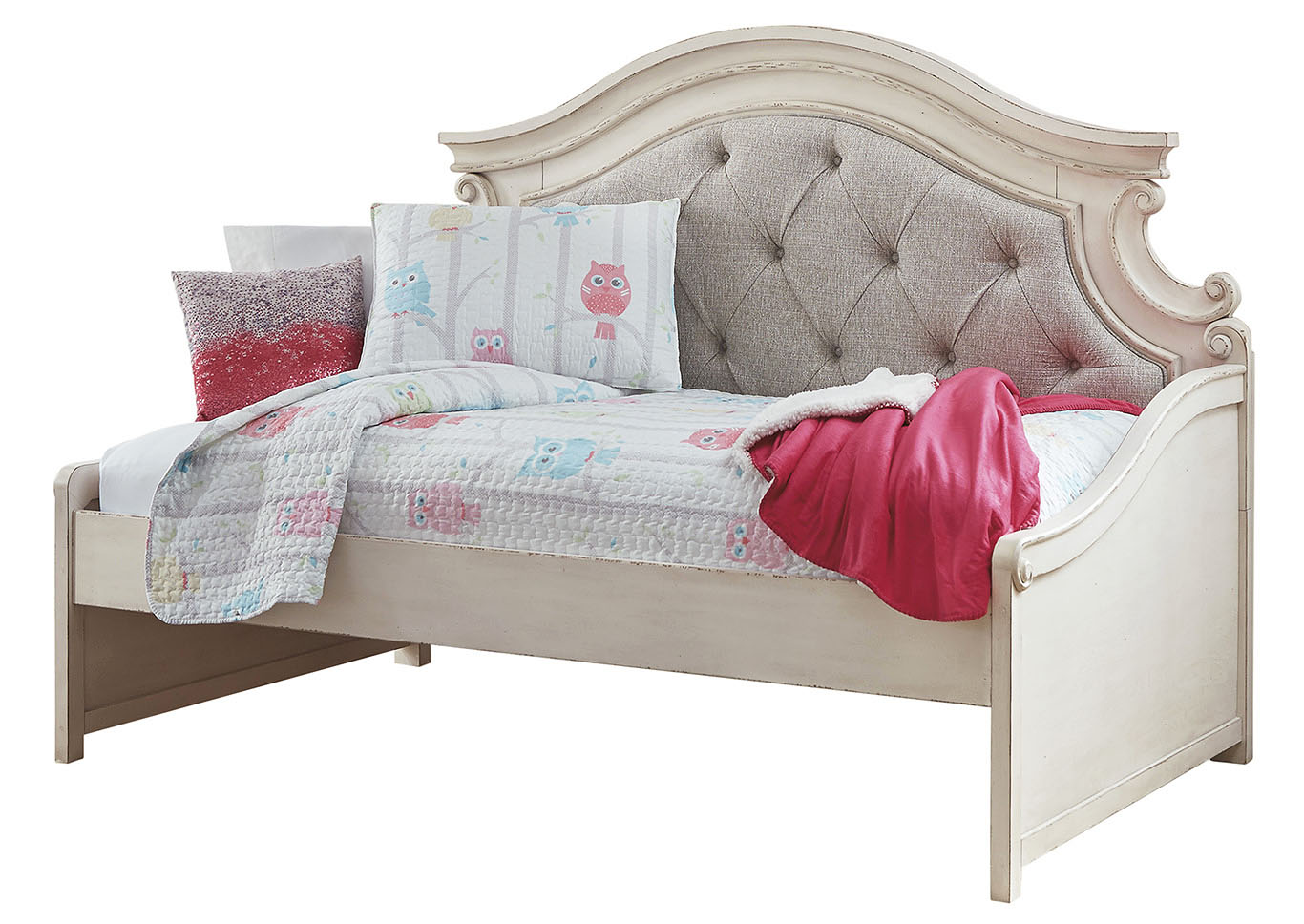 Realyn Chipped White Twin Daybed,Signature Design By Ashley