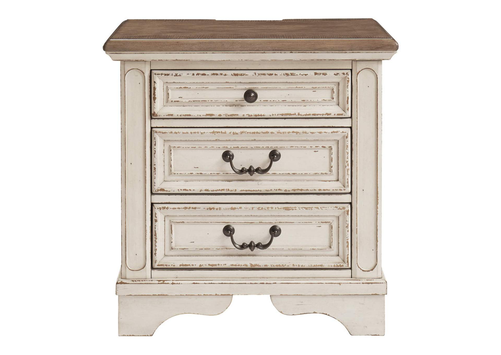 Realyn Two-Tone Three Drawer Night Stand,Signature Design By Ashley