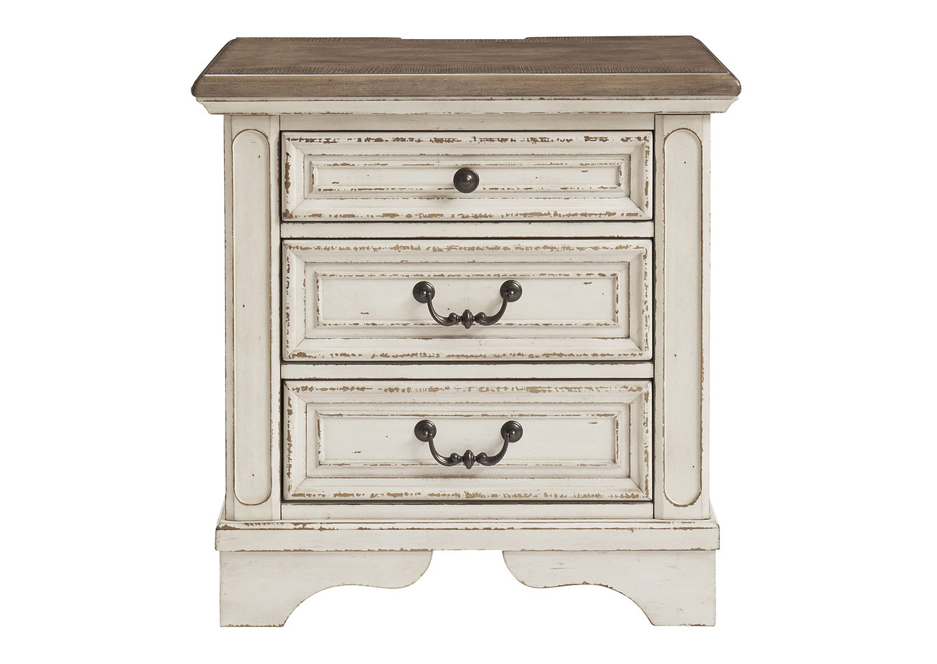 Realyn Two Tone Three Drawer Nightstand,48 Hour Quick Ship