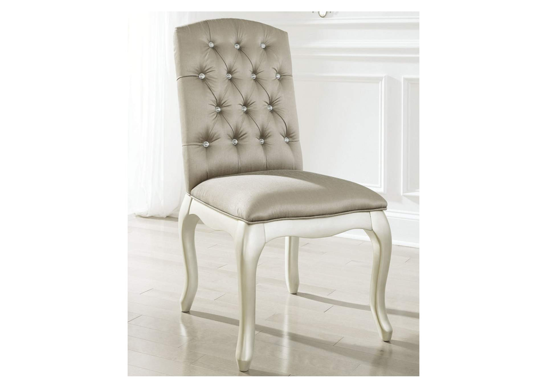 Cassimore Pearl Silver Upholstered Chair,48 Hour Quick Ship