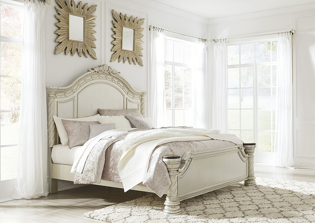 Cassimore Pearl Silver King Panel Bed,Signature Design By Ashley