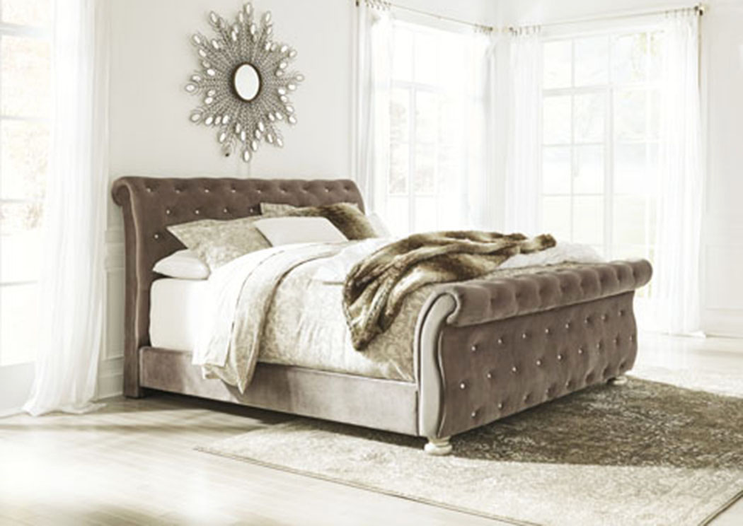 Cassimore Pearl Silver California King Upholstered Bed,Signature Design By Ashley