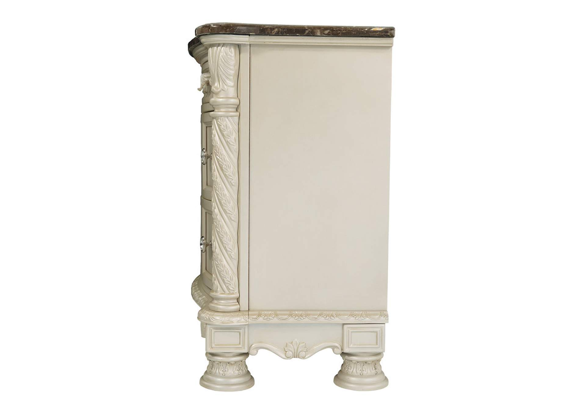 Cassimore Pearl Silver Three Drawer Night Stand,Signature Design By Ashley