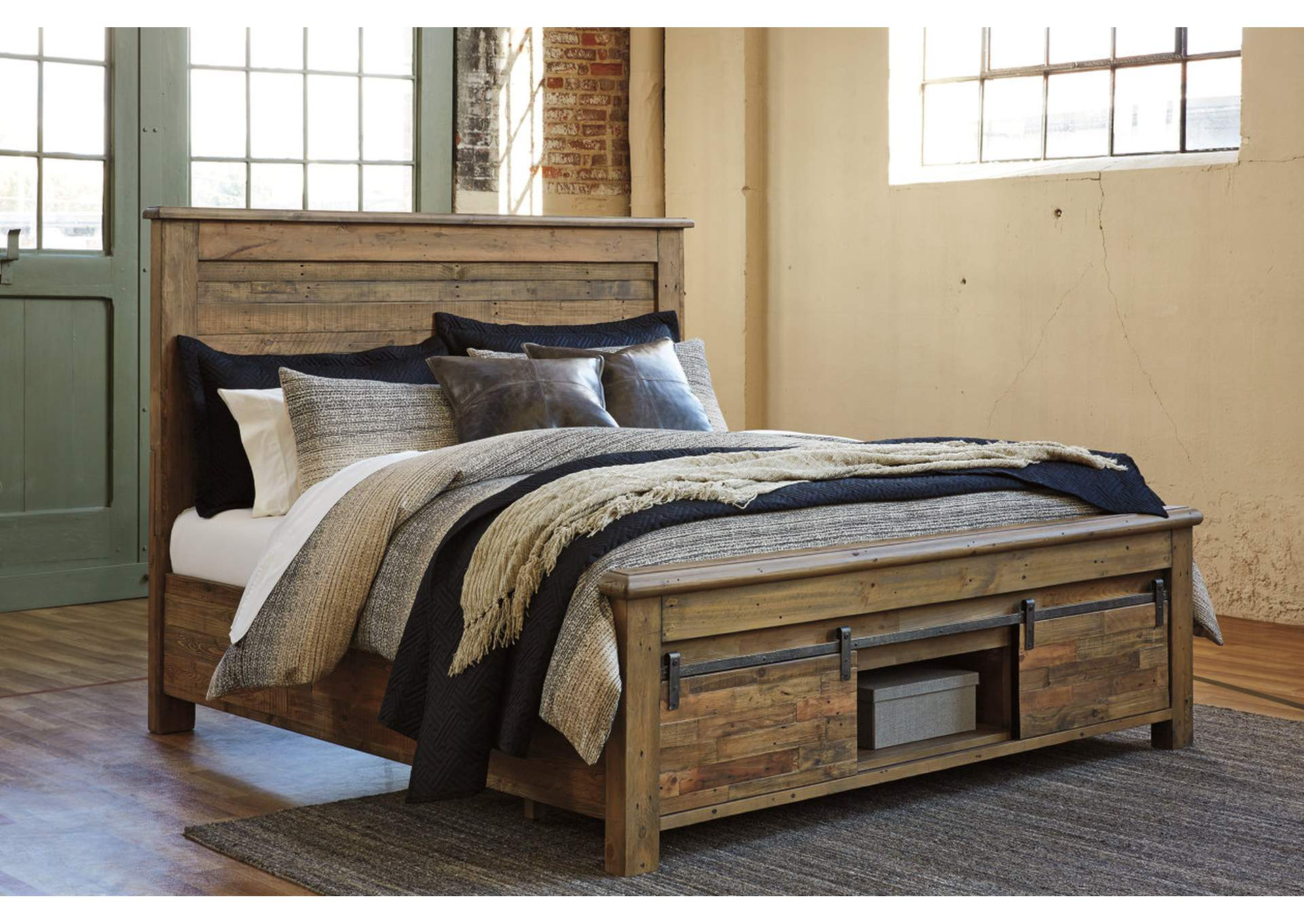 Sommerford Brown Queen Storage Bed,Signature Design By Ashley