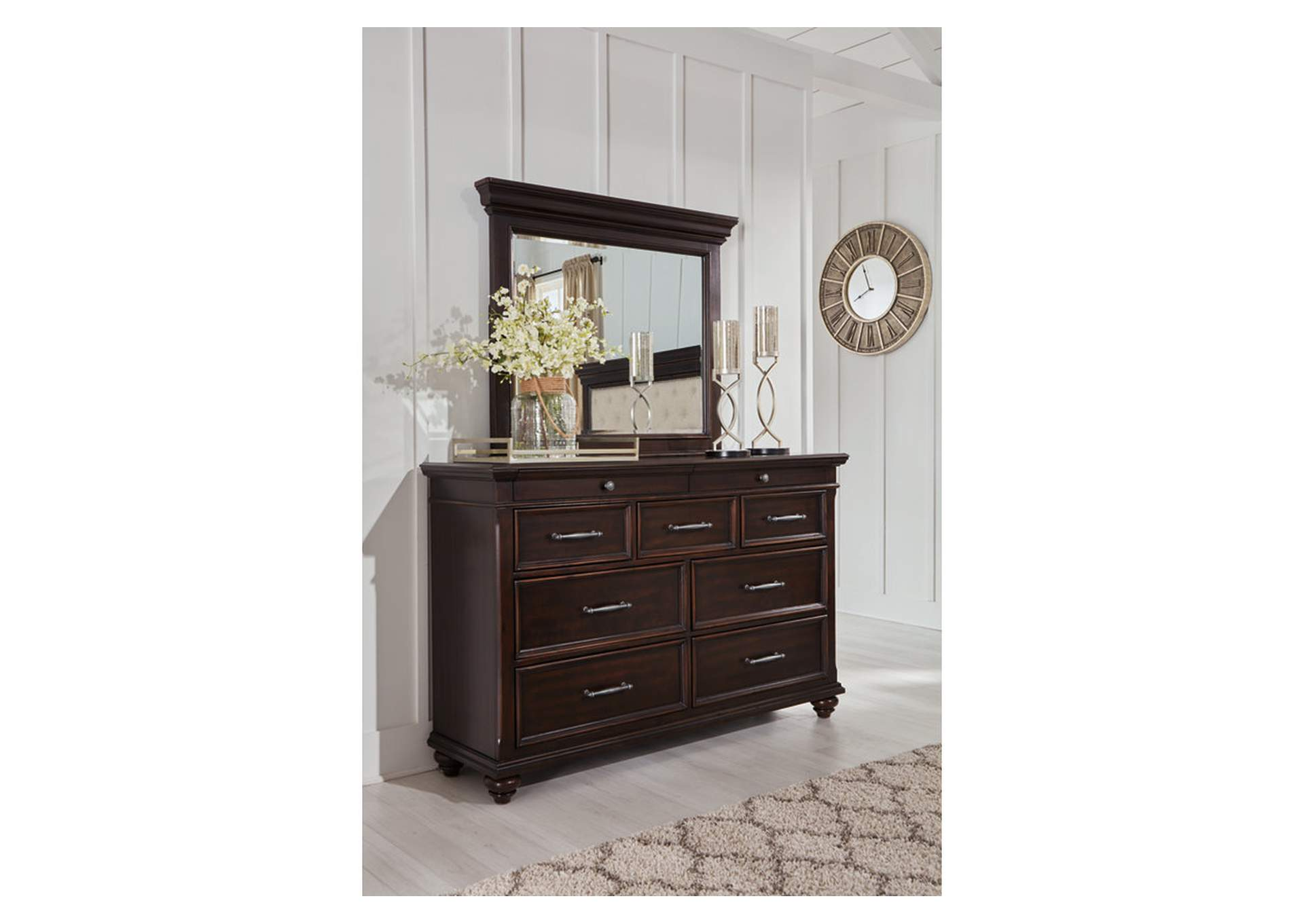 Brynhurst Brown Dresser w/Mirror,Signature Design By Ashley