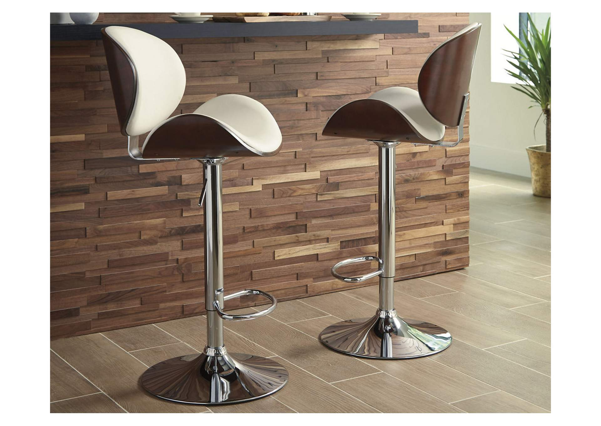 Adjustable Height Barstools Multi Tall Upholstered Swivel Barstool,Signature Design By Ashley