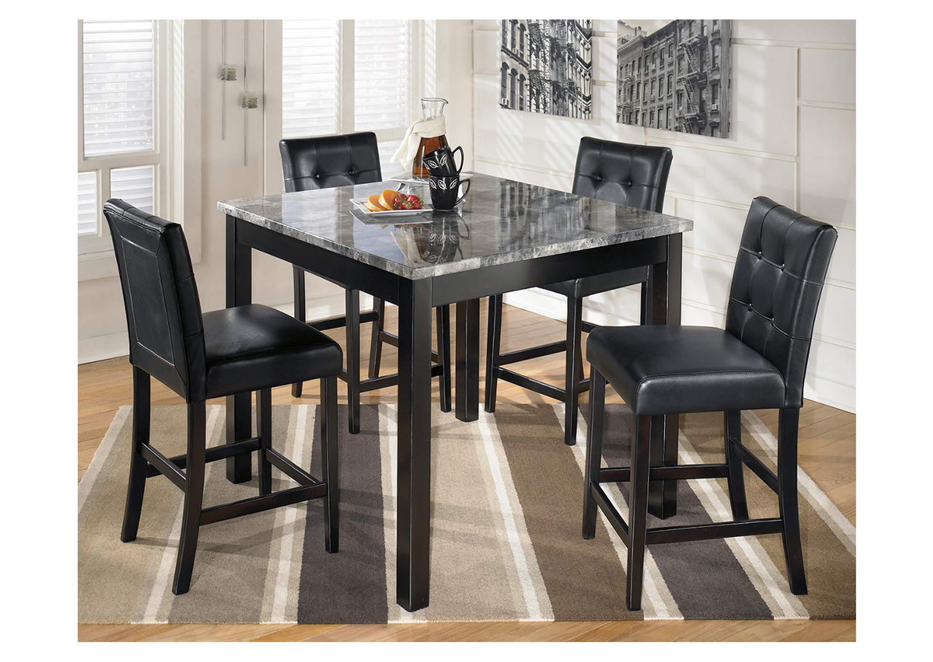Maysville Square Counter Height 5 Piece Dining Set,Signature Design By Ashley