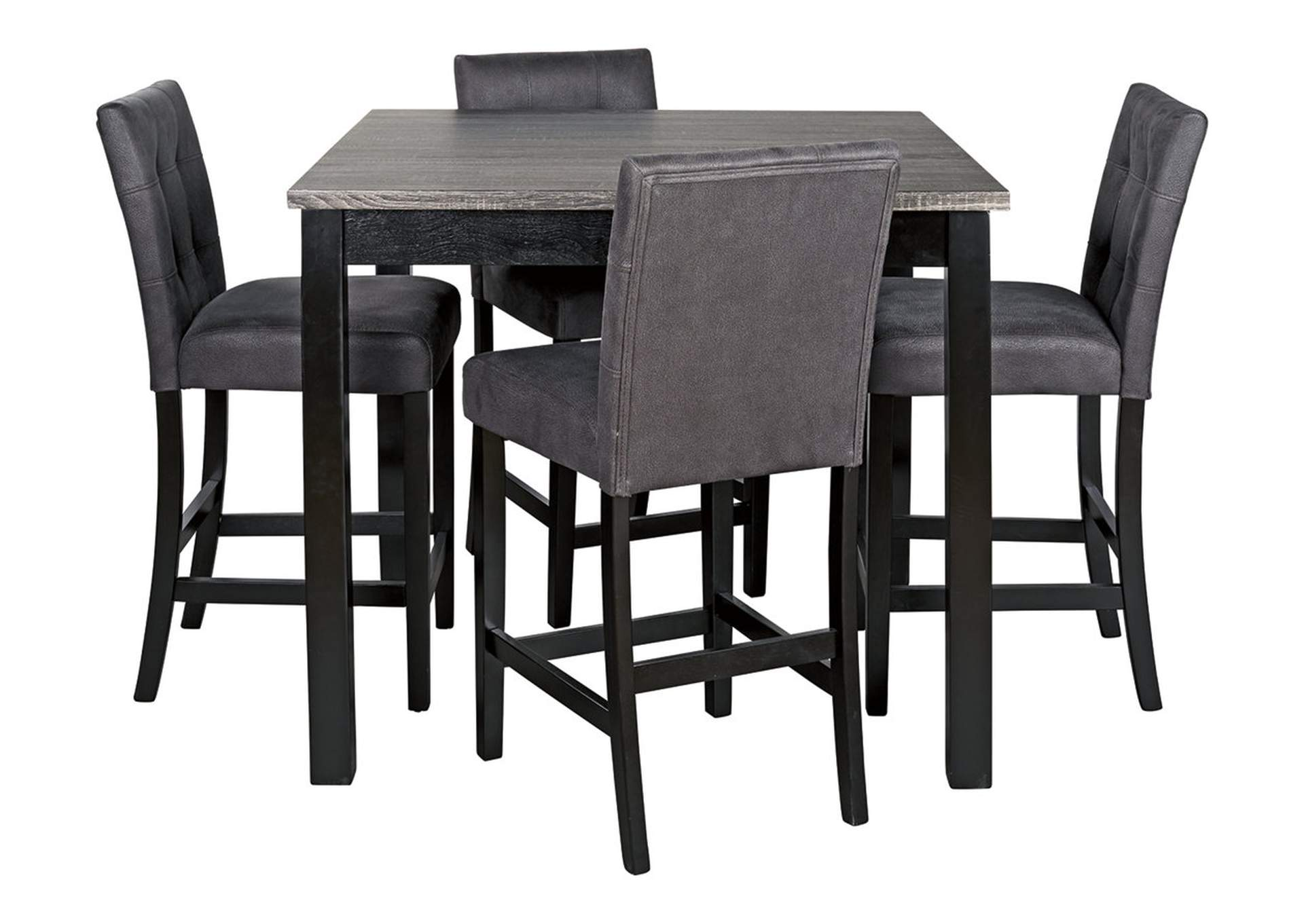 Garvine Two-tone Counter Height Dining Room Table and Bar Stools (Set of 5),Signature Design By Ashley