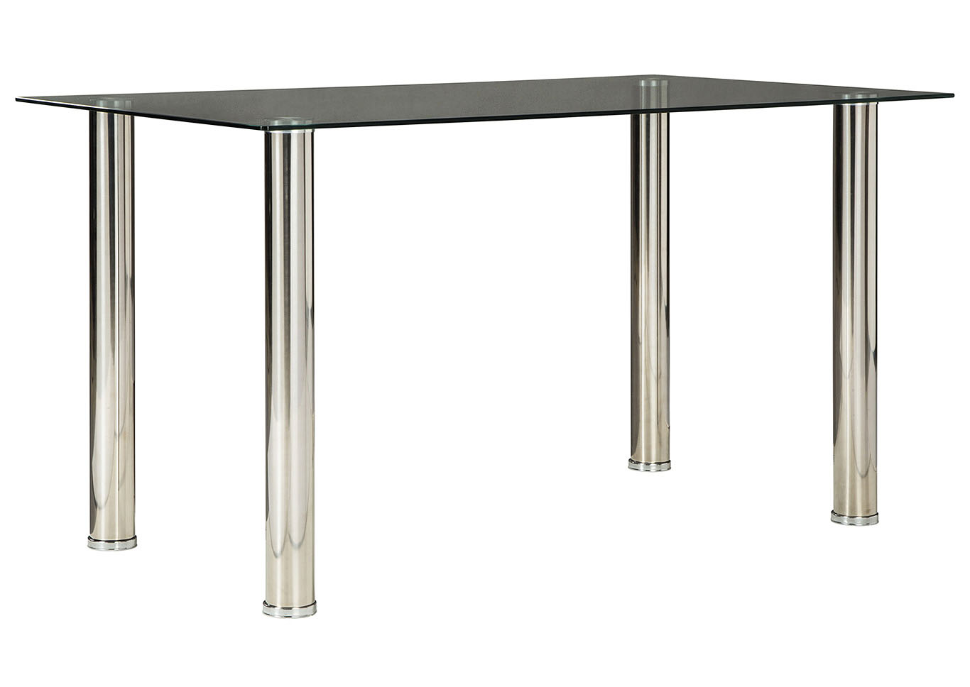 Sariden Chrome Finish Rectangular Dining Room Table,Signature Design By Ashley