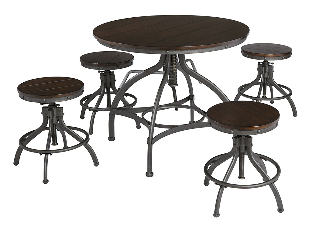 Odium Brown Dining Room Counter Table Set,Signature Design By Ashley