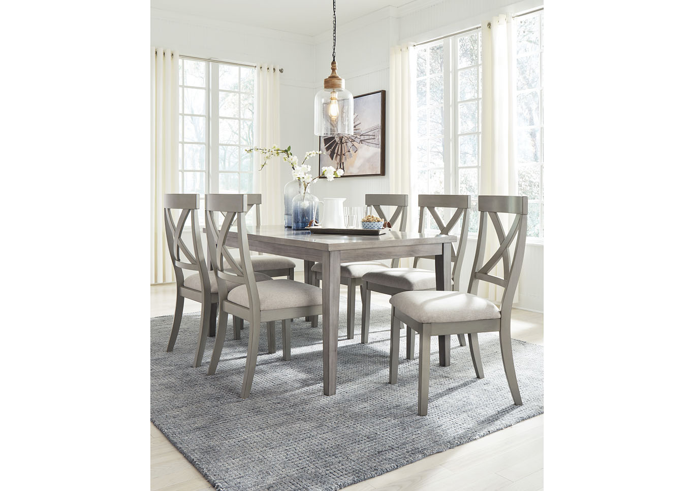 Parellen Gray Dining Table,Signature Design By Ashley