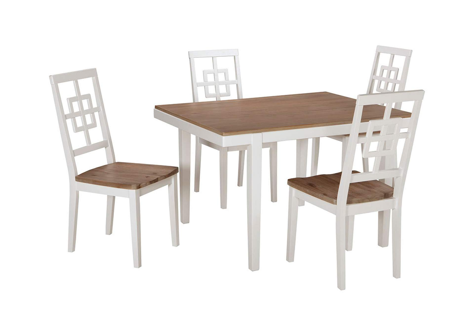 Brovada Two-tone Rectangular Dining Room Table Set,Signature Design By Ashley