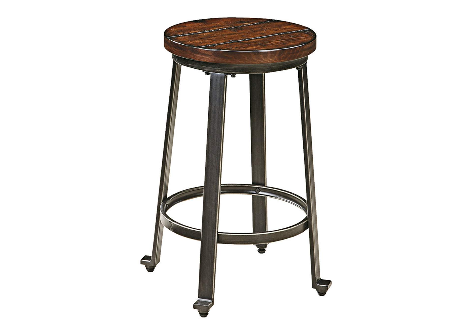 Challiman Rustic Brown Stool (Set of 2),Signature Design By Ashley