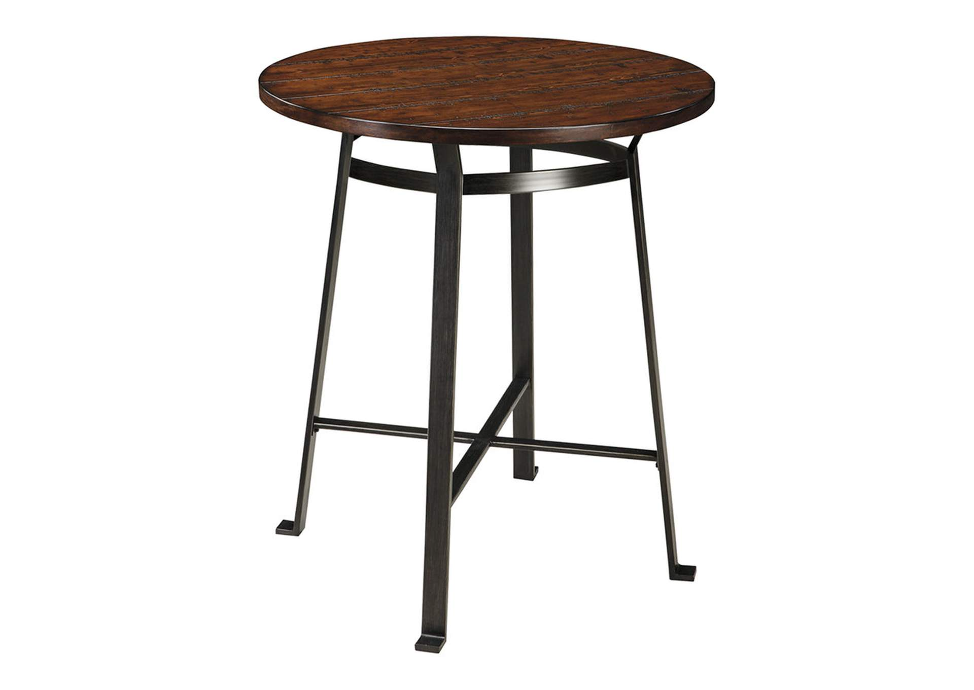 Challiman Rustic Brown Round Counter Table,Signature Design By Ashley