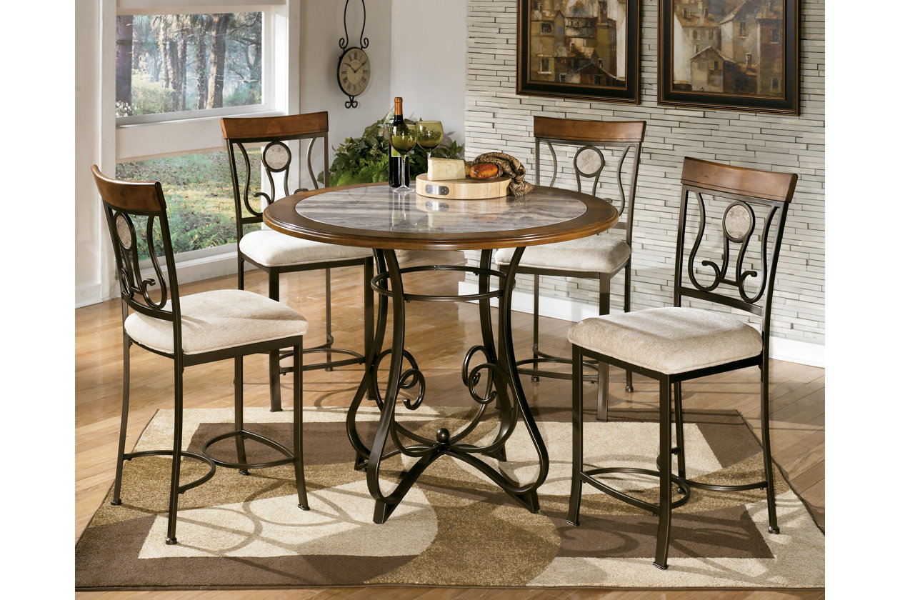 Hopstand Counter Height Dining Table w/4 Barstools,Signature Design By Ashley