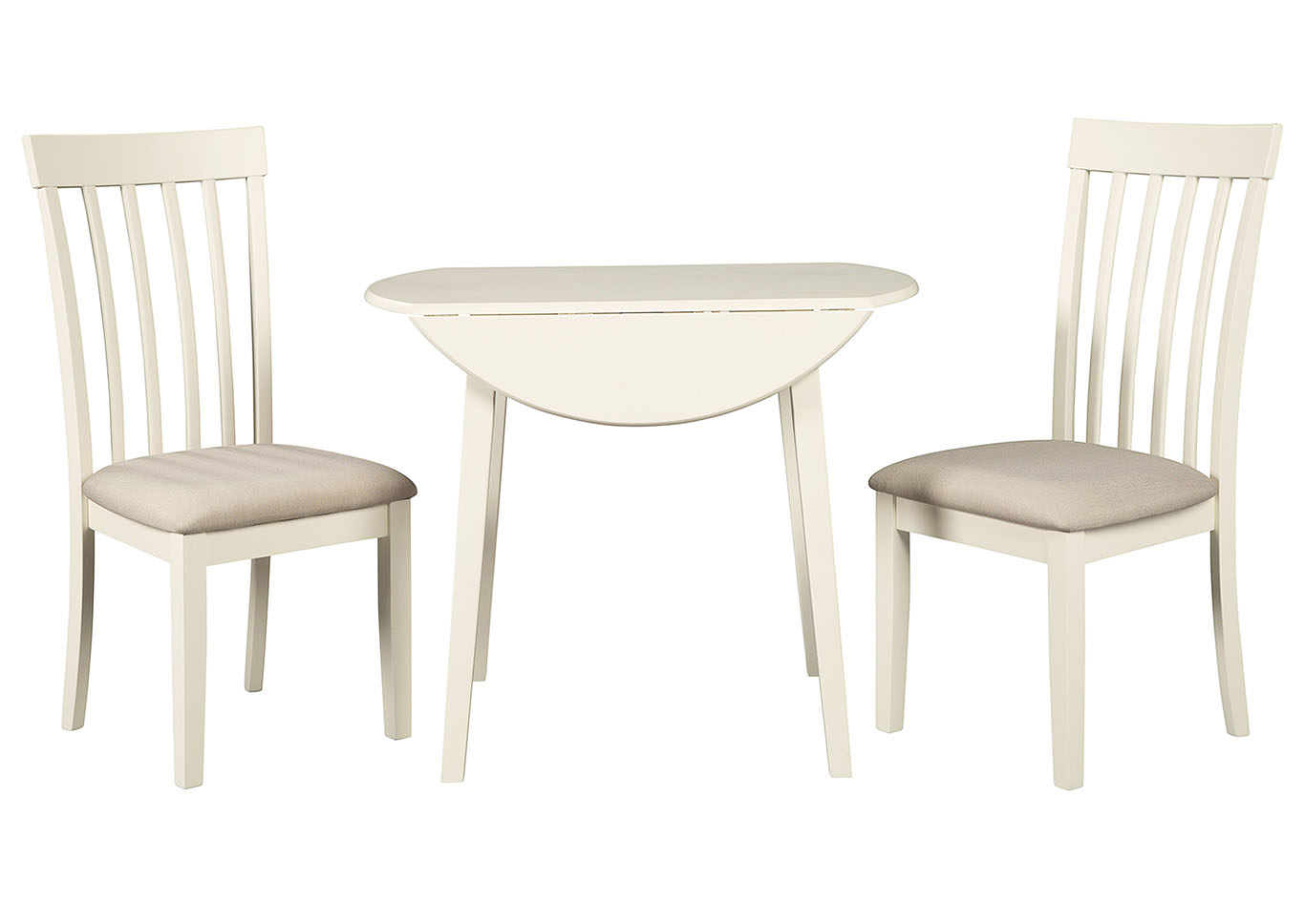 Slannery White Dining Table w/2 Side Chairs,Signature Design By Ashley