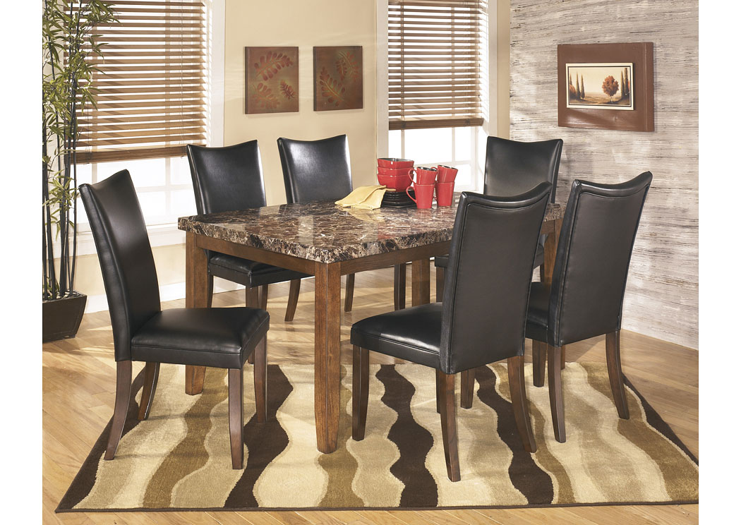 Lacey Rectangular Dining Table w/6 Black Chairs,Signature Design By Ashley