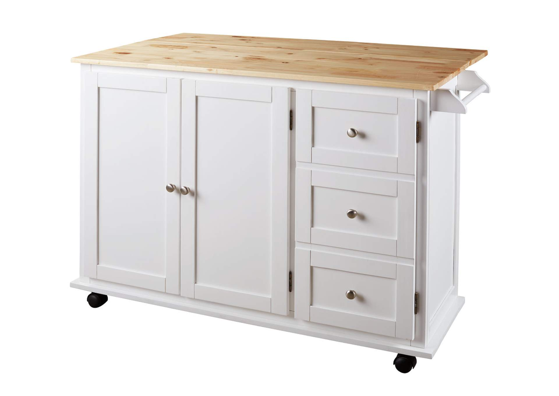 Withhurst White/Light Brown Kitchen Cart,Signature Design By Ashley