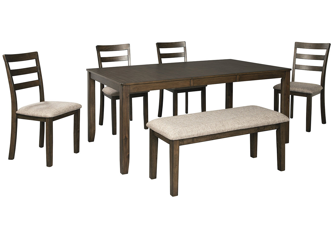 Drewing Dining Room Table w/4 Side Chairs & Bench,Benchcraft