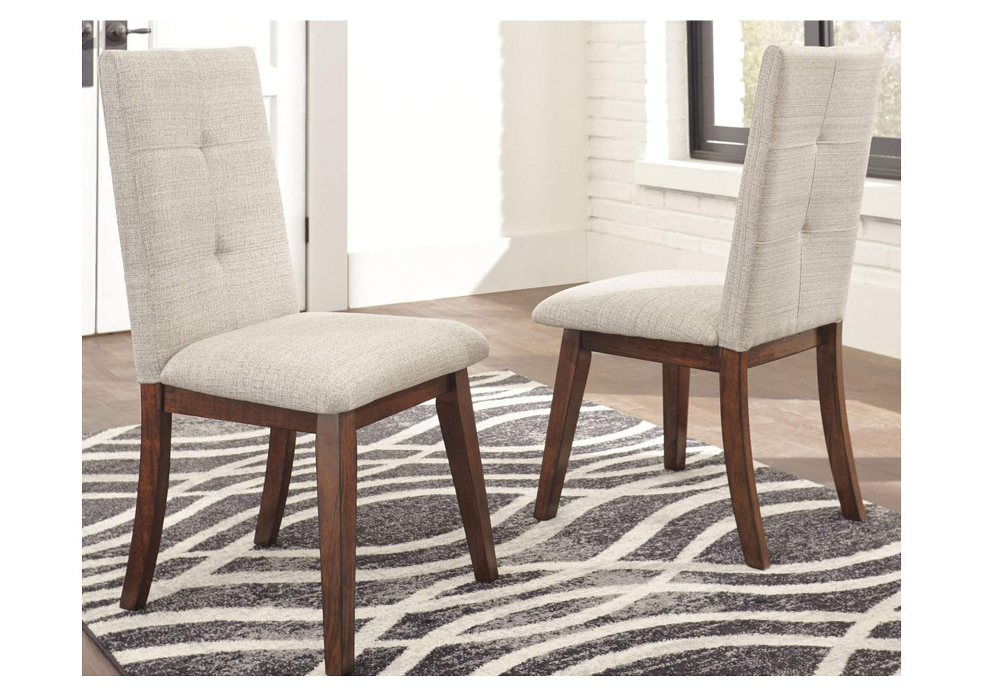 Centiar Two-Tone Brown Dining Upholstered Side Chair (Set of 2),Signature Design By Ashley