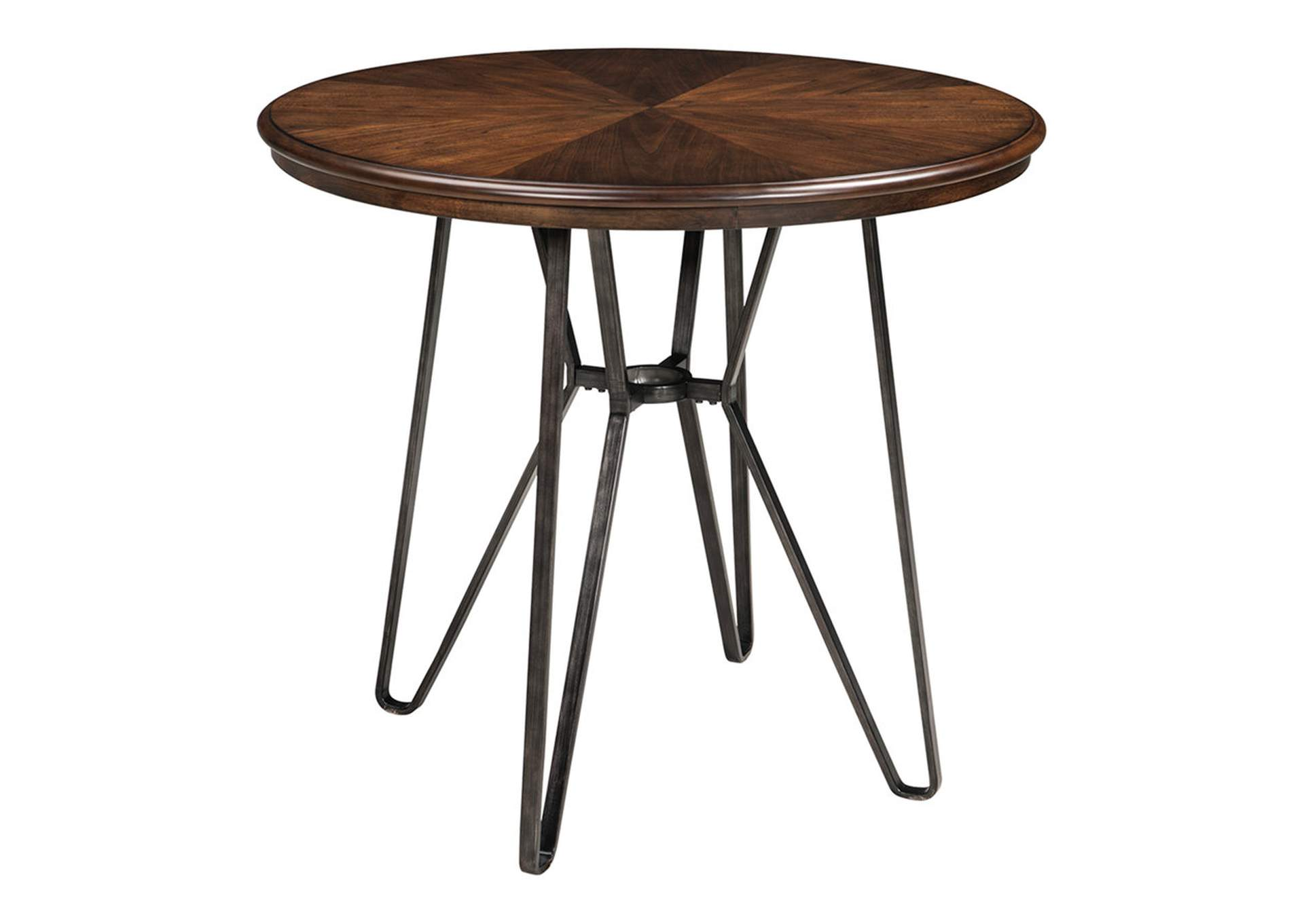 Centiar Two-Tone Brown Round Dining Room Counter Table,Signature Design By Ashley