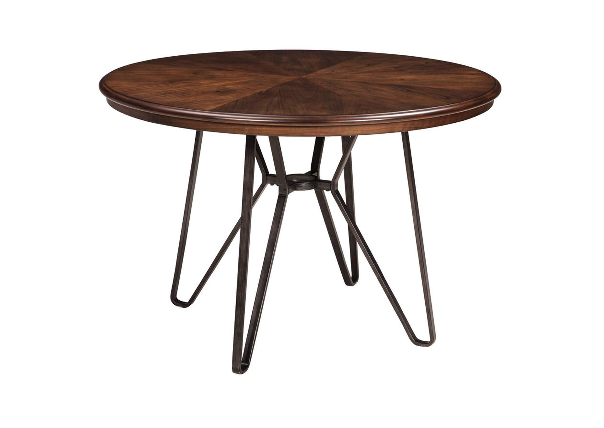 Centiar Two-Tone Brown Round Dining Room Table,Signature Design By Ashley