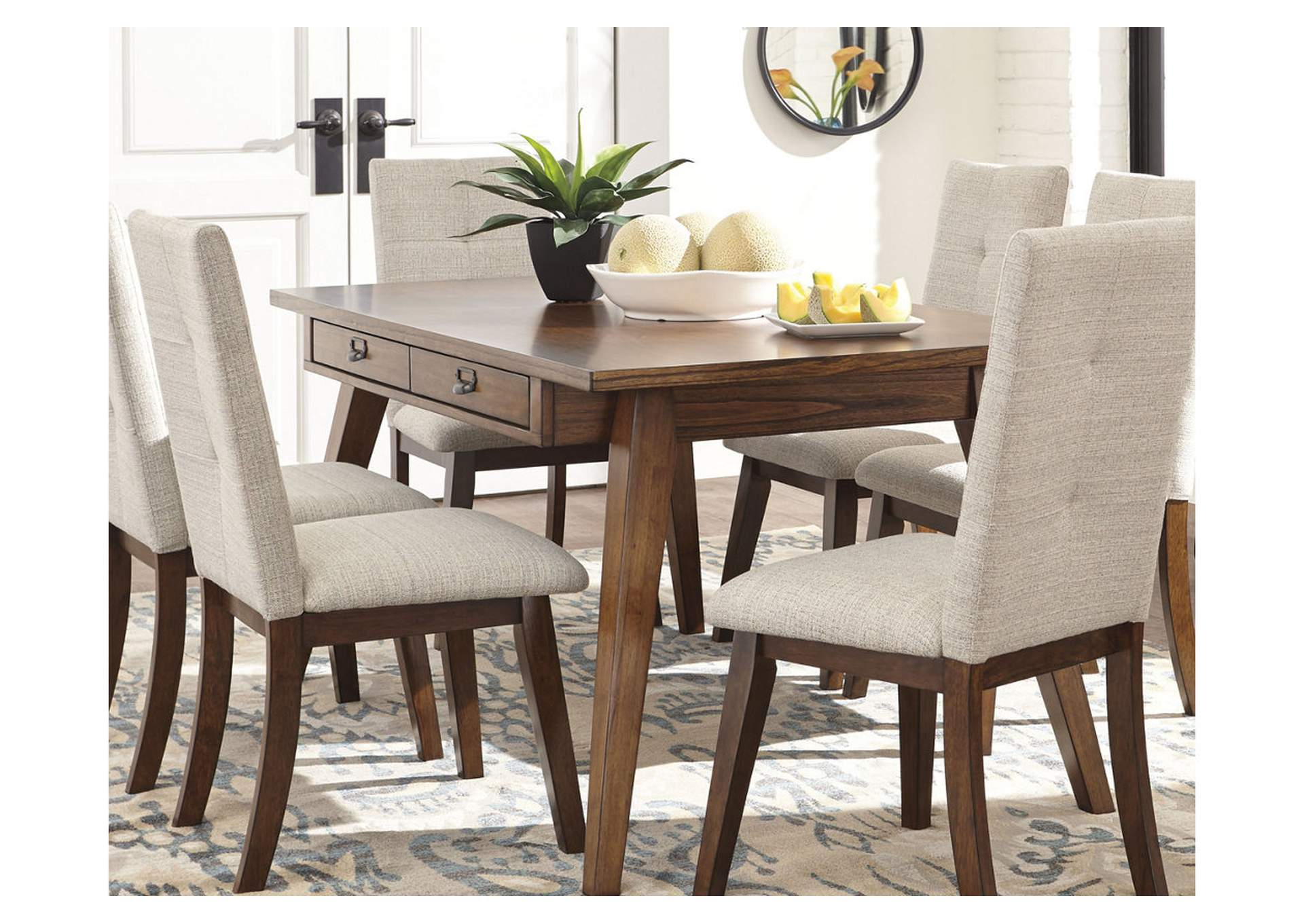 Centiar Two-Tone Brown Rectangular Dining Room Table,Signature Design By Ashley