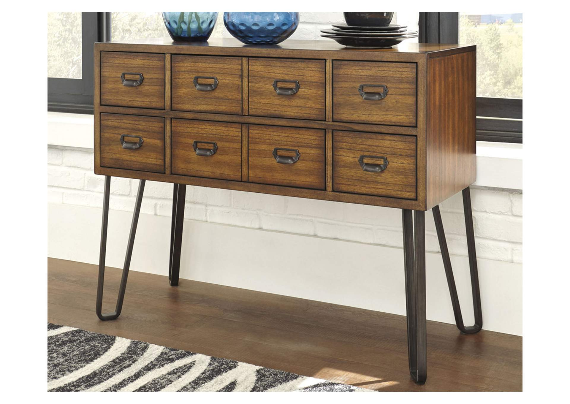Centiar Two-tone Brown Dining Room Server,Signature Design By Ashley